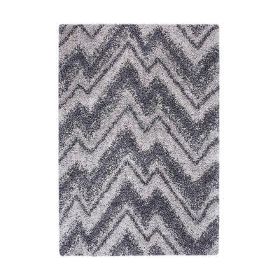 Bajada de cama jet zig zag 60x120 cm gris
