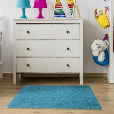 Bajada de cama washable rug 50x80 cm turquesa
