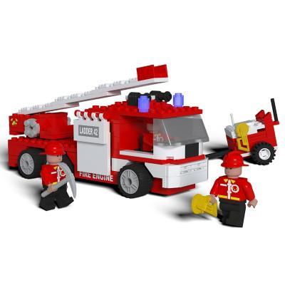 Juguete bloques de construcción bomberos 269 piezas