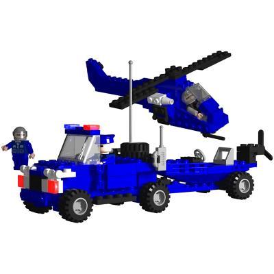 Juguete bloques de construcción policía 225 Piezas