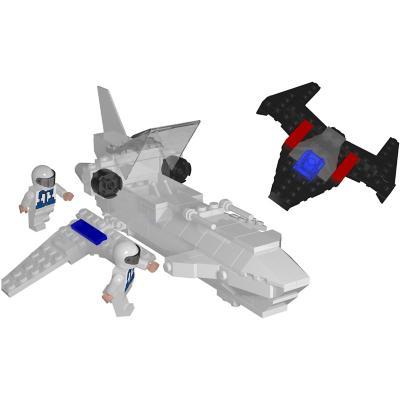 Juguete bloques de construcción espacial 238 piezas