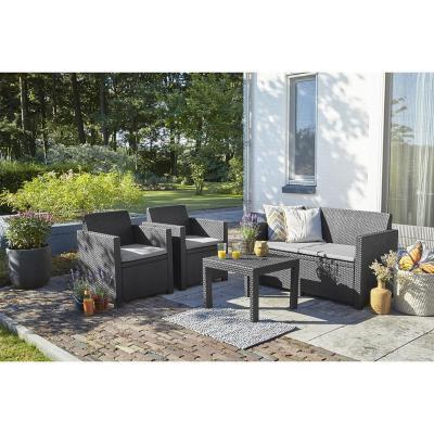 Juego de living 4 piezas jardín terraza