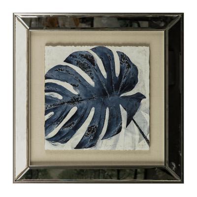 Cuadro Hoja azul 49x49 cm