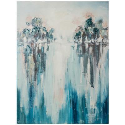 Canvas Arboles azul 60x80 cm