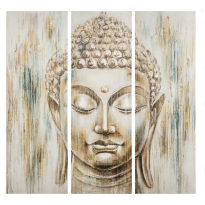 Set de 3 canvas Cara Buda 40x120 cm