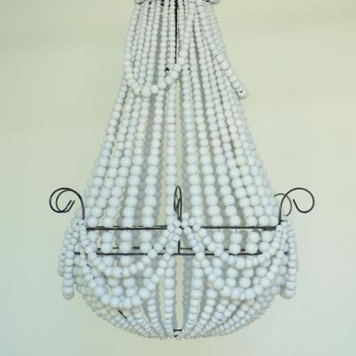 Pantalla para lámpara cuentas blancas