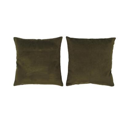Set 2 cojines velvet 40x40 cm verde oliva