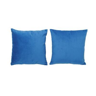 Set 2 cojines velvet 40x40 cm azul