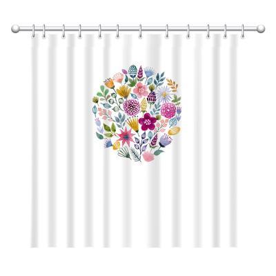 Cortina escudo flores 180x180 cm