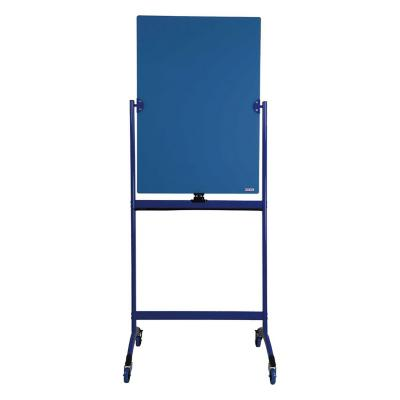 Pizarra de vidrio pedestal azul