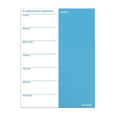 Planificador semanal magnético de vidrio 45x60 cm