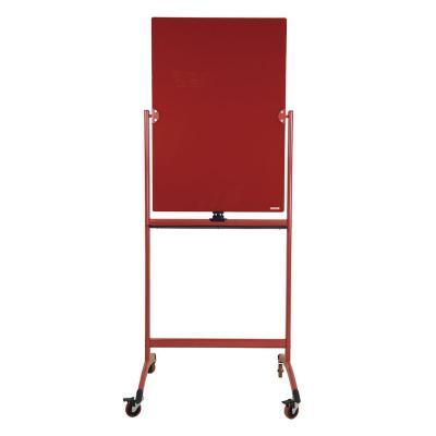 Pizarra de vidrio pedestal rojo