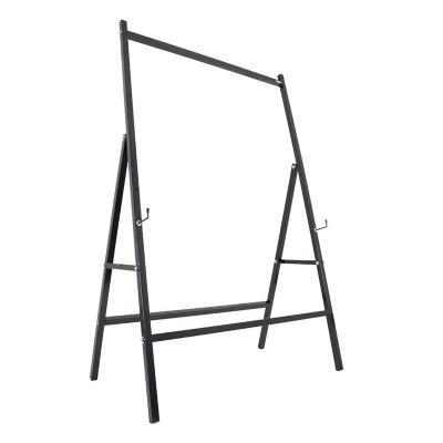 Pedestal con ruedas para pizarra 90x120 cm negro