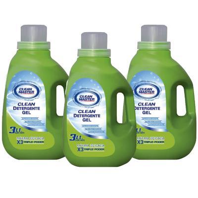 Detergente gel 3 litros 3 unidades