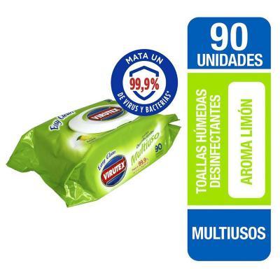 Paños desinfectantes desechables 90 unidades pouch