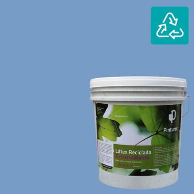 Látex reciclado extracubriente azul calafquen 4 gl