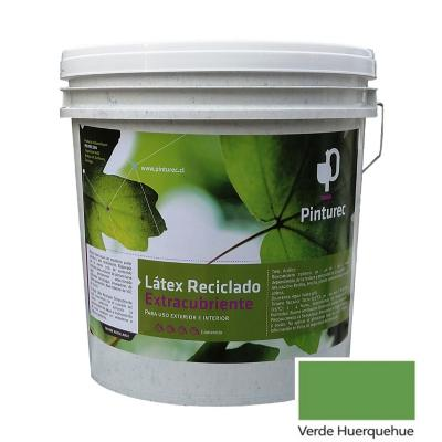 Látex reciclado extracubriente verde huerquehue 4 gl