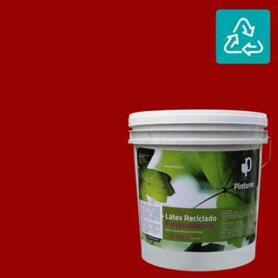 Latex reciclado extracubriente rojo pomaire 4 gl
