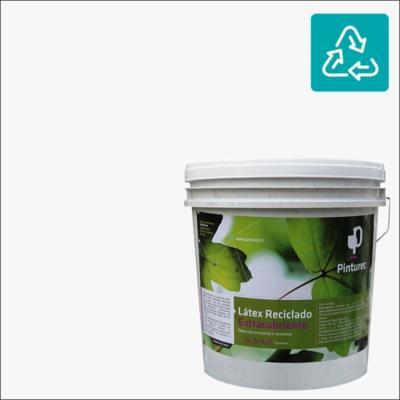 Látex reciclado extracubriente blanco llama 4 gl
