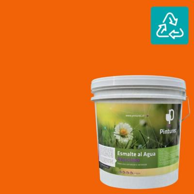 Esmalte al agua reciclado satin naranjo peumo 4 gl