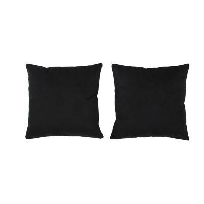 Set 2 cojines velvet 40x40 cm negro
