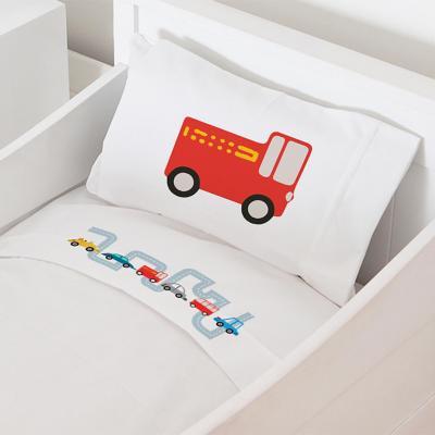 Juego sábanas cuna 70x140 cm diseño autitos