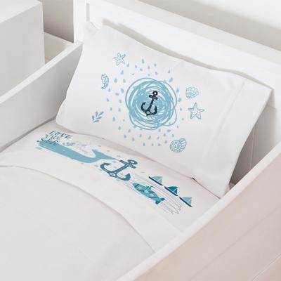 Juego sábanas cuna 70x140 cm diseño marino