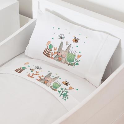 Juego sábanas cuna 70x140 cm diseño conejo