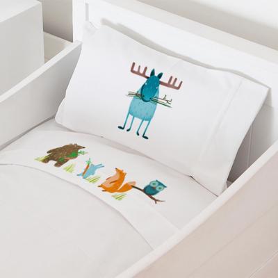 Juego sábanas cuna 70x140 cm diseño alce
