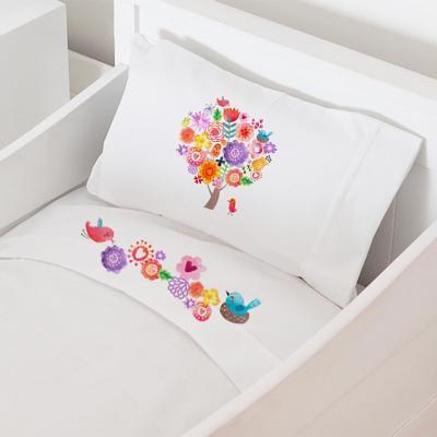 Juego sábanas cuna 70x140 cm diseño arbolito