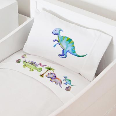 Juego sábanas cuna 70x140 cm diseño dinosaurio
