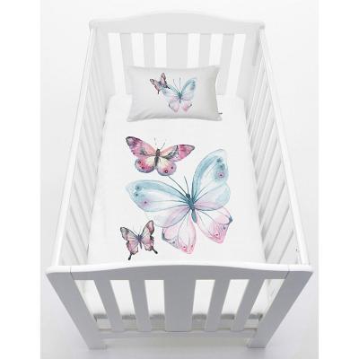 Cubreplumón cuna 70x140 cm diseño mariposas
