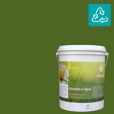 Esmalte al agua reciclado satín verde Tolhuaca 1 gl
