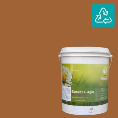 Esmalte al agua reciclado satin café lauca 1 gl