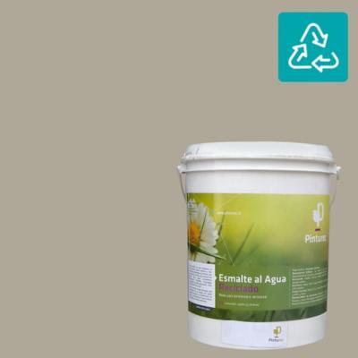 Esmalte al agua reciclado satin gris pucará 1 gl