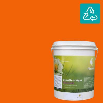 Esmalte al agua reciclado satin naranjo peumo 1 gl