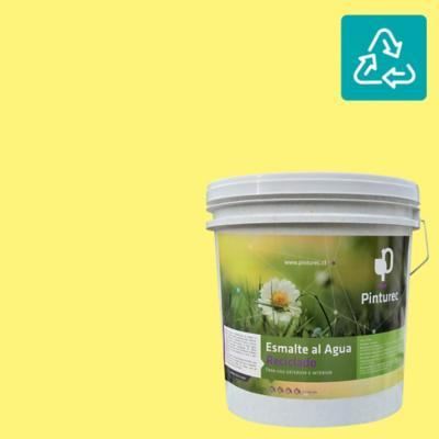 Esmalte al agua reciclado satin amarillo patagonia 4 gl