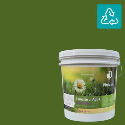 Esmalte al agua reciclado satin verde tolhuaca 4 gl