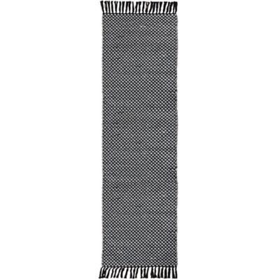 Alfombra pasillo Bazar lana 60x200 cm  negro