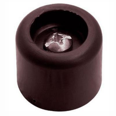 Tope para puerta 25 mm café