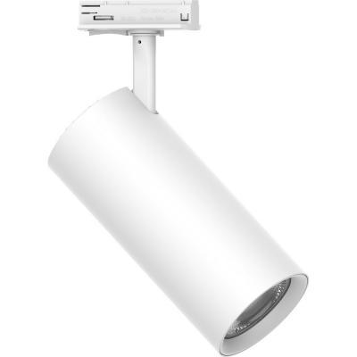 Foco led riel cilíndrico 30 W blanco luz cálida