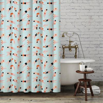 Cortina de baño bañistas 180x180 cm