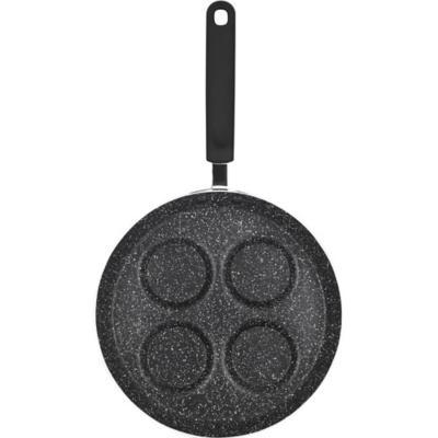 Sartén huevera 24 cm aluminio negro