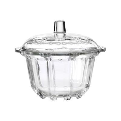 Azucarero 12 cm transparente vidrio
