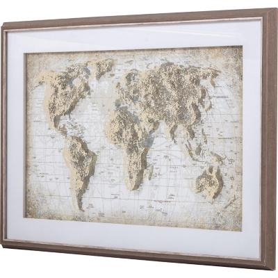 Cuadro mapa sepia 94x64 cm
