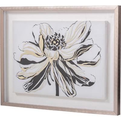 Cuadro floral 80x60 cm
