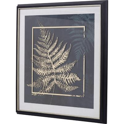 Cuadro planta dorada 1 64x64 cm