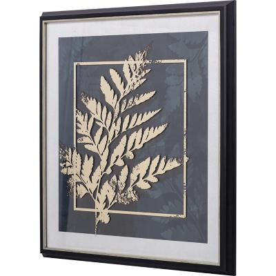 Cuadro planta dorada 2 64x64 cm