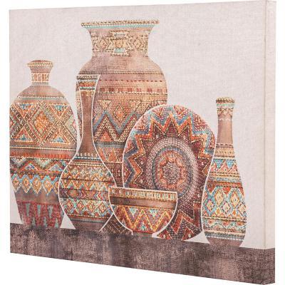 Canvas jarrones marrón 1 80x60 cm