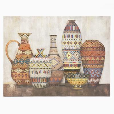 Canvas jarrones marrón 2 80x60 cm